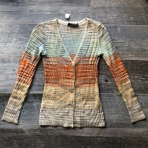 Missoni Sport Button Down Cardigan Size Small